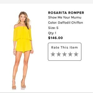 Off the shoulder daffodil yellow romper